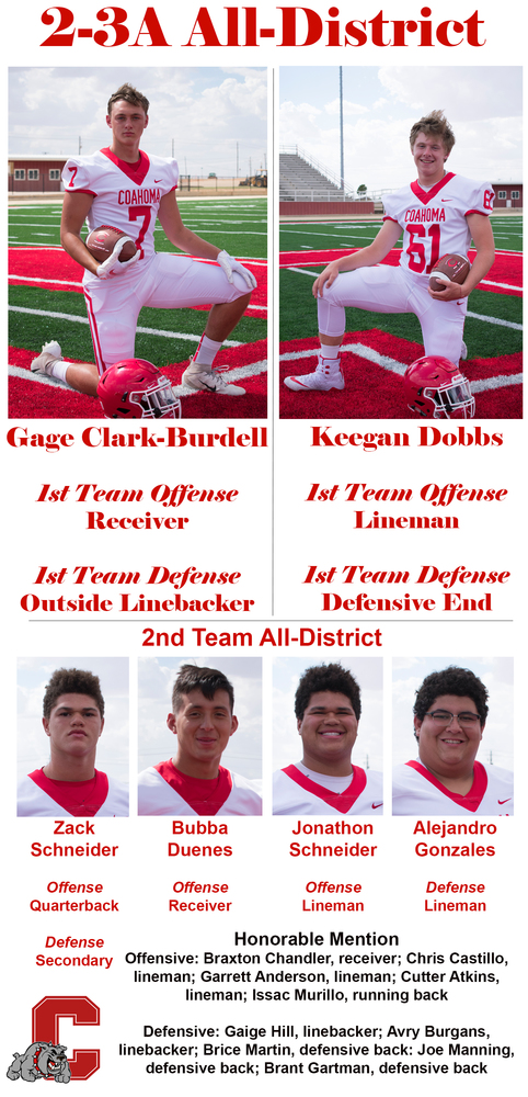 Clark-Burdell, Dobbs makes 2-3A All-District football team