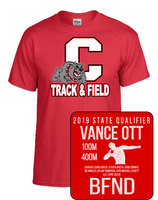 Vance Ott is headed to state track and field competition.