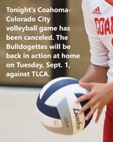 Canceled — No varsity or JV volleyball games tonight in Colorado City