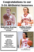 5-3A All-District Bulldogettes honorees