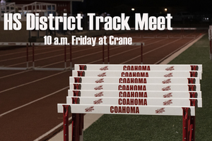 HS District Track Meet schedule of events