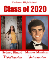CHS announces top 2 students of Class of 2020