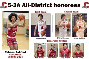 Ashford named 5-3A All-District Newcomer of the Year
